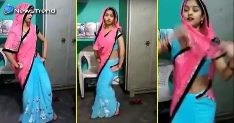 """""""भाभी जी"""" ने किया साड़ी में शानदार डांस… देखें यह वायरल वीडियो!"""