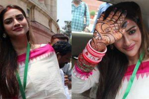 भारतीय नारी अवतार में दिखीं बंगाल की ये खूबसूरत एक्ट्रेस, संसद मे हर किसी का जीता दिल