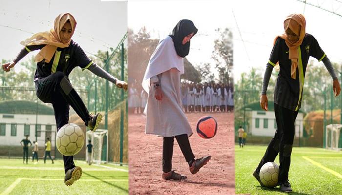 Photo of विडियो: हिजाब पहन एक नंबर फुटबॉल खेलती हैं 17 वर्षीय लड़की, अपने टेलेंट से बदल रही समाज की सोच